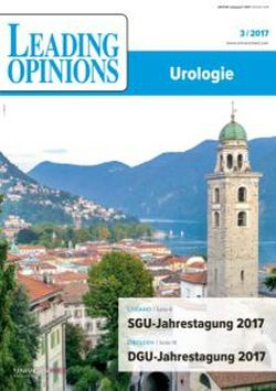 LEADING OPINIONS Urologie 2017/3